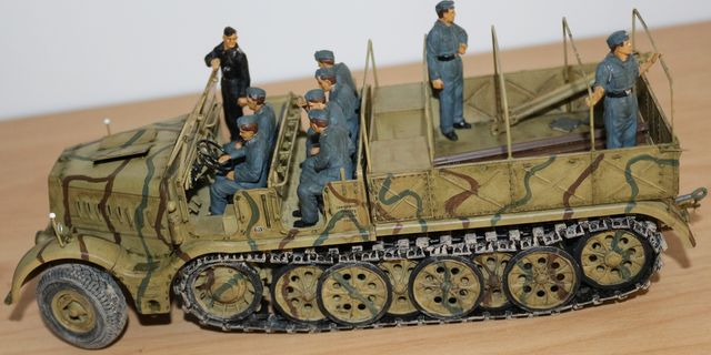 German 18 Ton Heavy Half-Track FAMO, German Tank transporter Sd.Ah.116